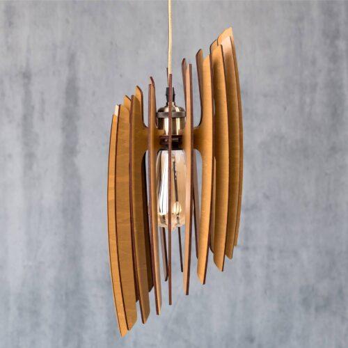 Aplica din lemn handmade - Lustre sufragerie sau lustra hol