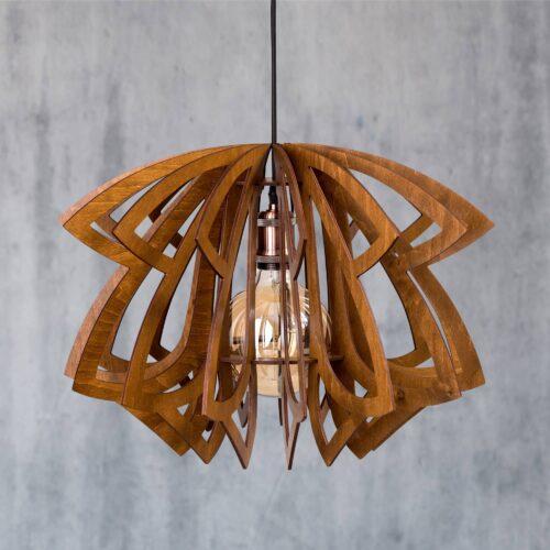 Lustra pentru living din lemn
