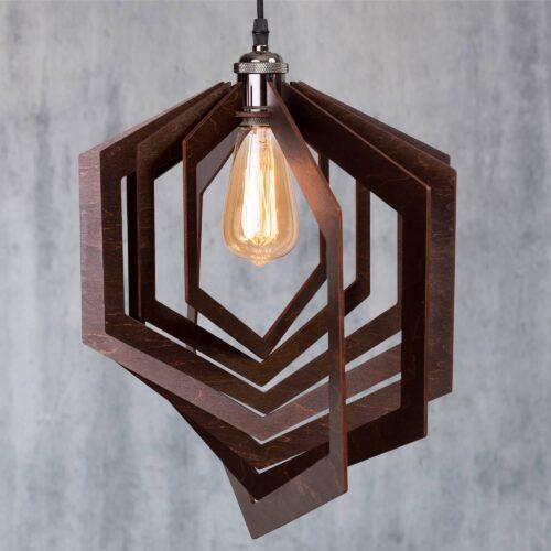Lustra din lemn handmade - Lustre sufragerie