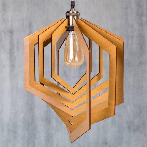 Lustra din lemn pentru living - Lustre sufragerie