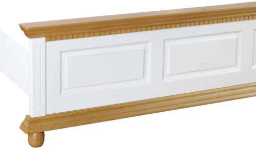 pat Luxus alb cu natur lemn masiv
