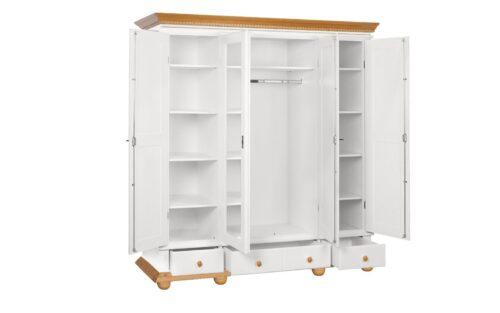 Dulap Luxus 4 usi 3 sertare lemn masiv deschis