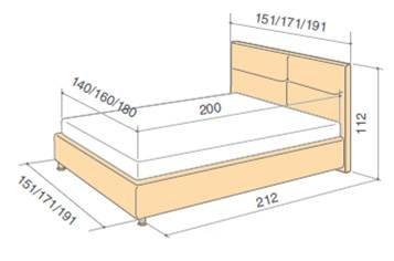 Schema descriptiva cu dimensiunile Pat Orion - EMob Decor