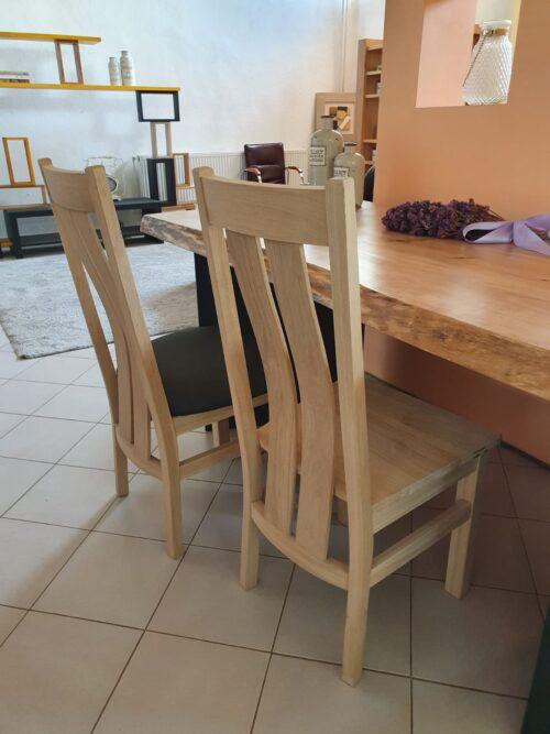 scaun tapitat stejar lemn masiv