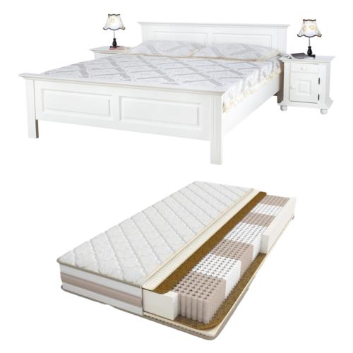 set pat lemn masiv Select cu saltea si husa cadou