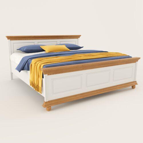 pat lemn masiv Luxus alb cu natur privit din stanga