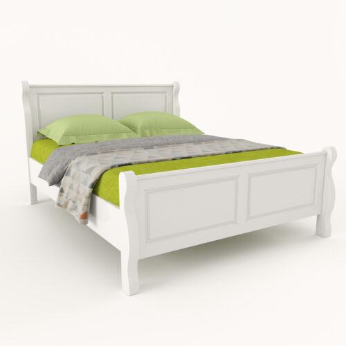 pat alb lemn masiv Belinda design elegant privit din stanga