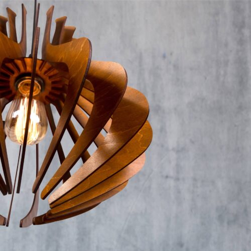 Lustra din lemn pentru living - Candelabru dormitor