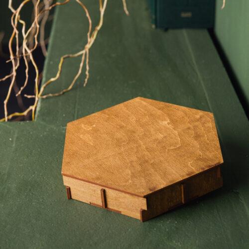 Cutie handmade din lemn de mesteacan