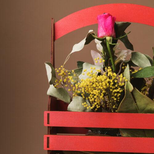 Cutie pentru flori fabricata in Romania, 100% handmade