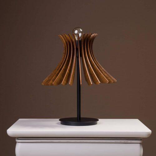 Lampa de birou sau noptiera Noa cu culoare nuc