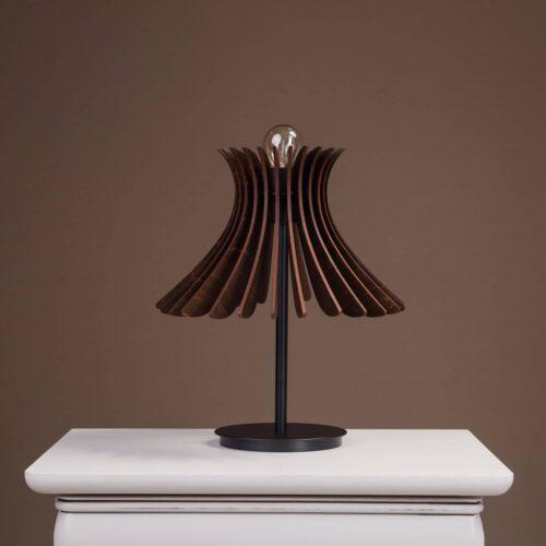 Lampa de birou sau noptiera Noa de culoare wenge