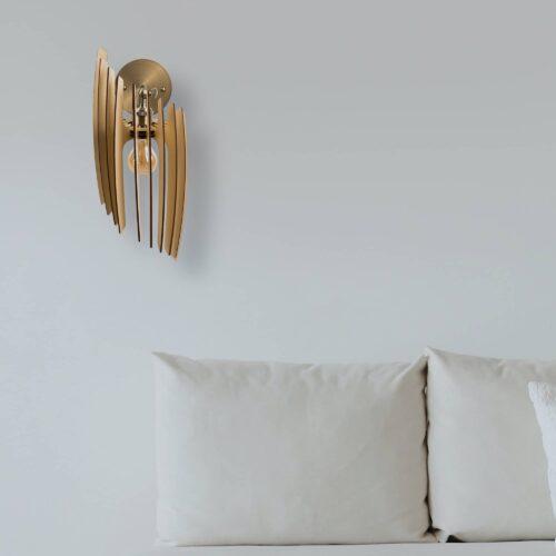 Aplica din lemn pentru perete fabricata in Romania, 100% handmade